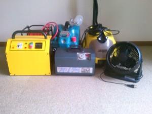 オゾン発生器ほか消臭機材